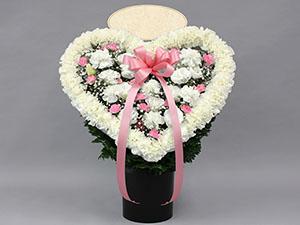ハート型供花 pink]